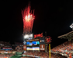 Scenes from the National NLCS Clinching Win -Fireworks-0319 (Geoff Livingston) Tags: nationals ncs cardinals game 4 mlb playoffs baseball washington dc nats baby shark
