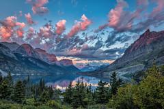 Sunrise over Wild Goose Island, Glacier National Park, Montana (diana_robinson) Tags: sunrise wildgooseisland glaciernationalpark montana landscapescenery outdoors beautyinnature cloudsky nopeople remotelocation abigfave