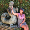 Two Sirens (piotr_szymanek) Tags: boadella costabrava lloret marzka woman milf face glasses sunglasses outdoor sculpture garden santaclotilde portrait dress siren 1k 5k