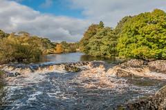 Cascade on the River Tees between Low Force  and High Force Oct 2019 (Richard Laidler) Tags: aonb areaofoutstandingnaturalbeauty autumn autumncolour autumncolours autumntints bluesky bright cascade cascades clouds fine forestinteesdale globalgeopark landscape longdistancefootpath northeastengland northpennines northpenninesaonb pennineway pennines rivertees sunny sunshine teesdale teesdalelandscape upper upperteesdale waterfall waterfalls
