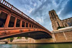 Beautiful Paris (jeromedelaunay_paris) Tags: clouds photography colors sky river seine bridge notredame cathedrale cathedral notredamedeparis europe france iloveparis parisianlife parismonamour parisjetaime paris