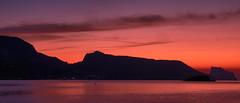 Silhouette (Vest der ute) Tags: xt2 spain silhouettes earlymorning sea mountain sky clouds water softlight fav25 fav200
