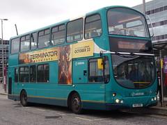 Arriva Volvo B7TL (Wright Gemini) 4021 UUI 2951 (LJ51 DFX) (Alex S. Transport Photography) Tags: bus outdoor road vehicle arriva arrivatheshires arrivamidlands vlw13 volvob7tl wright gemini routex60 4021 uui2951 lj51dfx