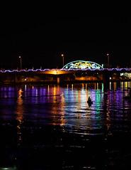 Night catch (Cadicxv8) Tags: night fishermen bridge river cantho vietnam contrast
