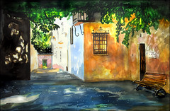 GMB_3138 (Dr Graham Beards) Tags: andalucia alhambra granada townscape spain watercolor watercolour