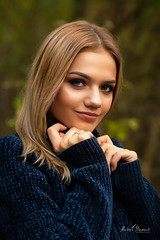 Daria (Michał Banach) Tags: daria nikond850 osowagóra railstation tamronsp85mmf18divcusd autumn beautiful beauty female forest girl polishgirl portrait railtracks railway smile sweater trees woman mosina greaterpolandvoivodeship poland
