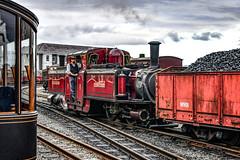 Shunting coal at Porthmadog (robmcrorie) Tags: porthmadog ffestiniog welsh highland railway merddin embryos steam loco fairlie double shunting coal freight nikon d850