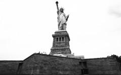 Statue of Liberty - August 2016 (neilsonabeel) Tags: minoltaxd11 minolta rokkor film analogue newyorkcity statueofliberty libertyisland blackandwhite statue 24mm monochrome 2016