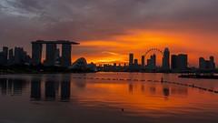 Sunset Viewed from Marina Barrage (yoosangchoo) Tags: singapore marina bay sands flyer sunset light colours sky cityscape landscape