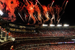 Scenes from the National NLCS Clinching Win - Fireworks-0354 (Geoff Livingston) Tags: nationals ncs cardinals game 4 mlb playoffs baseball washington dc nats baby shark