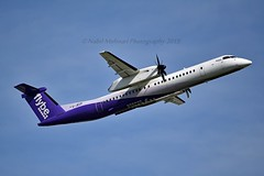 Flybe G-JECP Bombardier DHC-8-402Q Dash 8 cn/4136 Incident 23 Feb 2017 at AMS right-hand main gear collapsed on landing returned to service 9 Sep 2018 @ EGLL / LHR 14-05-2019 (Nabil Molinari Photography) Tags: flybe gjecp bombardier dhc8402q dash 8 cn4136 incident 23 feb 2017 ams righthand main gear collapsed landing returned service 9 sep 2018 egll lhr 14052019