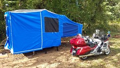 Time Out camping trailer (V-rider) Tags: rhm ralph jane vrider97 camping timeout trailer camper popup goldwing honda camp tent outdoors riding adventure