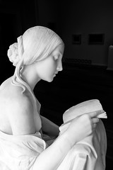 Cure for Ignorance (BenBuildsLego) Tags: sculpture statue washington dc black white escultura skulptur sculptor sculptures sony a6000 art museum national gallery america usa italian marble reading book girl breast nude
