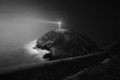 Solace (jellyfire) Tags: anglesey coast darkthoughts ethereal landscape landscapephotography sea sony sonya7r southstack ze zeissdistagont18mmf35ze autumn clouds dark eerie leadinglines leeacaster lighthouse mysterious night path quarry sky snowdonia wales wwwleeacastercom zeiss black white blackandwhite mono