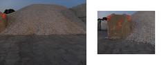 ] O R A N G E [ (michelle@c) Tags: urban manmade landscape industrial cityscape industry cement heap gravels block mark dusk diptych quays seine tolbiachaven parisxiii orange 2019 ©michellecourteau