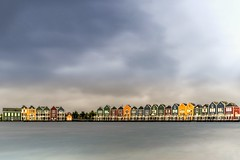 Houten Hosuses (kaveh zabihi) Tags: netherlands houten rain architect architecture amazing travel traveling longexpose beautiful dutch house nature landscape home outside urban design nikkor water sky blue art clouds lake bridge longexposure 35mm fog countryside