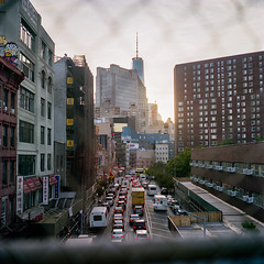 View from Manhattan Bridge (instagram.com/dimush) Tags: 120mm kodak v700 analog epsonv700 istillshootfilm 120мм среднийформат 120film rolleiflex28e 120 portra grainisgood tlr 6x6 пленка film granisgood mediumformat rolleiflex portra400 portra160