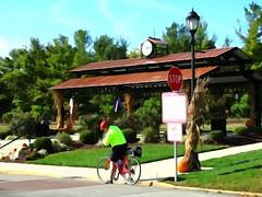 Watercolor Biker (e r j k . a m e r j k a) Tags: pennsylvania verona park pavilion watercolor biker autumn fall alleghenyvalley erjk