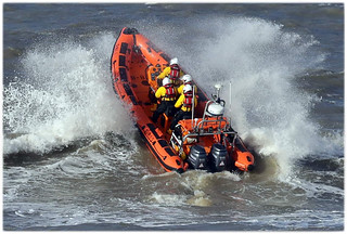 Atlantic 85 B803 'William Hurst' on training exercise at Porthcawl. Images: Stephen Jones