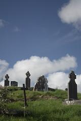 Ennistymon, Ireland (Loon Man Returns) Tags: cemetery cemeteries tombstones tombstone sky clouds ennistymon countyclare ireland