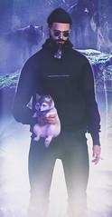 [ 📷 - 104 ] (insociable.sl) Tags: sunglasses beard boy male man model hipster black purple winteriscoming snow forest animal companion pet mouse wolf sl secondlife