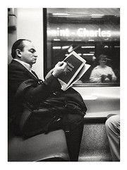 Reading news. 📰 (streetspirit13) Tags: candidstreetphotography subwaypeople subwayphotography streetpassionaward streetphotographer streetscene bnwdemands bnwphotography blackandwhite noiretblanc
