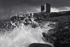 Crashing ashore. (Sean Hartwell Photography) Tags: castle waves dingle peninsula minard ocean sea storm beach water ruins spray atlantic stormclouds roacks wildatlanticway
