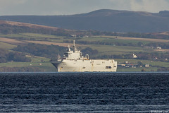 Marine Nationale (French Navy) amphibious assault helicopter carrier Tonnerre, L9014; Clyde Anchorage, Scotland (Michael Leek Photography) Tags: ship warship navalvessel navalexercise nato natoexercise jointwarrior jointwarrior2019 clyde clydeanchorage hmnbclyde hmnb firthofclyde scotland scottishlandscapes scottishcoastline scotlandslandscapes scottishshipping westcoastofscotland westernscotland marinenationale france frenchnavy french amphibiousassaultship helicoptercarrier michaelleek michaelleekphotography