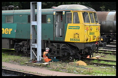 No 86604 16th Oct 2019 Ipswich (Ian Sharman 1963) Tags: no 86604 16th oct 2019 ipswich class 86 station engine railway rail railways railfreight train trains loco locomotive freightliner electric