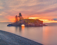 Hollow Rock Sunrise (WTW Pics) Tags: hollowrock minnesota island northshore lakesuperior sunrise colors beautiful canon5dmkii longexposure