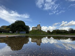 Cardiff Castle: reflection
