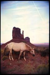 Monument Valley, AZ (The 69th Dimension) Tags: film analog analogue 35mm monumentvalley arizona desert landscape horse leica southwest