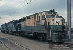 GP35 3635 sits in Potomac Yard in Alexandria, Virginia on April 24th 1981 (Willie - Brown) Tags: williebrownslidecollection conrail gp35
