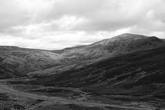 Mountains of Glenshee (steve_whitmarsh) Tags: aberdeenshire scotland scottishhighlands highlands cairngorms landscape blackandwhite bw monochrome topic mountains hills