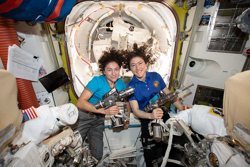 Upcoming spacewalking duo Jessica Meir and Christina Koch