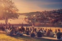 Those happy days (Ro Cafe) Tags: oporto portugal douro rio river sunset summer cityscape travel sunlight nikkor2470mmf28 sonya7iii