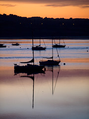 Yacht silhouettes (ExeDave) Tags: p8152361 exe estuary starcross teignbridge devon sw england gb uk coastal tidal river landscape waterscape moored boats yachts silhouettes sunrise dawn sssi spa natura natura2000 n2k site ramsarsite august 2011