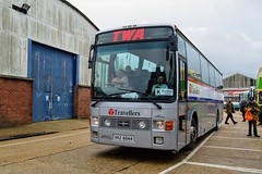 HXZ6044 (PD3.) Tags: leyland tiger vanhool van hool travelers coach isle wight iow hants hampshire england uk great britain newport godshill quay harbour bus buses museum preserved vintage running day rally autumn sunday 12 13 october 2019 twa