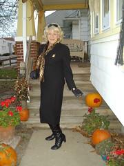 An Oldie (Laurette Victoria) Tags: suit blonde scarf autumn boots laurette woman gloves fabulous wonderful leatherboots leathergloves