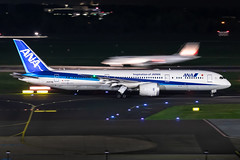 JA872A All Nippon Airways (ANA) Boeing 787-9 Dreamliner (buchroeder.paul) Tags: eddl dus dusseldorf düsseldorf international airport flughafen deutschland germany europa europe external night nacht ground boden ja872a all nippon airways ana boeing 7879 dreamliner