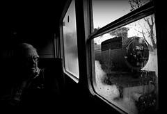 Glimpsing an old friend (david.hayes77) Tags: manor steam dartmouthsteamrailway paignton 2019 7827 lydhammanor cbcollett 460 greatwesternrailway gwr heritagerailway bw blackandwhite monochrome devon atmosphere dvr dartvalleyrailway