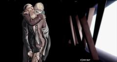 Lover's Death (Hobbit Zenfold) Tags: avatar androgyn boy blogger boys couple couples darkness theepiphany gabriel gb virtualworld virtual love male model malemodel malefashion mask secondlife sl