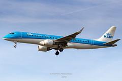 PH-EZI KLM Cityhopper Embraer ERJ-190STD (ERJ-190-100) (Florent Péraudeau) Tags: phezi klm cityhopper embraer erj190std erj190100 toulouse toulouseblagnac toulouselfbo tls lfbo planespotting plane spotter spotting flox papa fp florent péraudeau