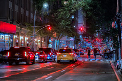 Red Lights in NYC (franco54im) Tags: nyc night redlight cars light street
