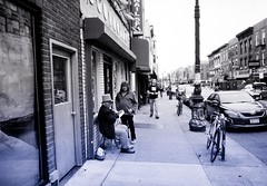 Wizard & Grumpus (Nun Nicer Artist) Tags: 35mmstreetphotography streetphotography bnw city nunnicer newyork people citylife blackandwhite street analog analogfilm artphotography artist monochrome brooklyn