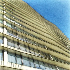 Art and Architecture (Marcia Portess-Thanks for a million+ views.) Tags: beachavenue curves lines windows 1980s modern edificio tower skyscraper highrise buildings photomanipulation photoart postprocessing effects elartedigital digitalart elarte art canada britishcolumbia vancouver westend oceantowers marciaportess marciaaportess map artandarchitecture