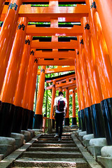 Fushimi Inari Taisha Shrine (shiruichua) Tags: japan kyoto fushimi inari taisha shrine orange torii gates temple shinto senbon mountain stairs peaceful beautiful photography canont5i 18135mm lens dslr