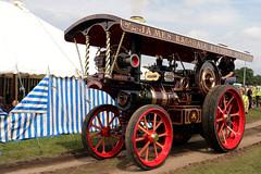 Garrett Showmans 4CD Steam Engine (Paul Brunt) Tags: invincible garrett showmans showmansengine maroon red brass steam cromford cromfordsteamrally steamrally heritage history livinghistory derbyshire