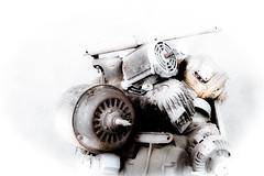 Powerbank (vale0065) Tags: engine motor elektriciteit electricity elektrisch electrical 3fase used tweedehands inductie induction summerbar zomerbar depaniek timecircus scheldt schelde antwerpen antwerp belgium belgië asynchrone asynchroon roest rust oxidatie oxidation