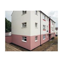 social housing (chrisinplymouth) Tags: flats block apartment socialhousing corner devonport pink plymouth devon england trait diagonal perspective goldenratio uk city goldenmean cw69x xg diag housingestate